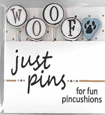 W is for Woof pin set