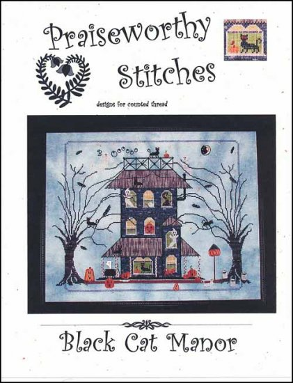 Black Cat Manor with button pack