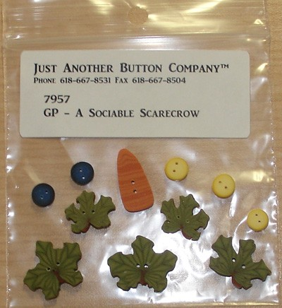 A Sociable Scarecrow Button Pack