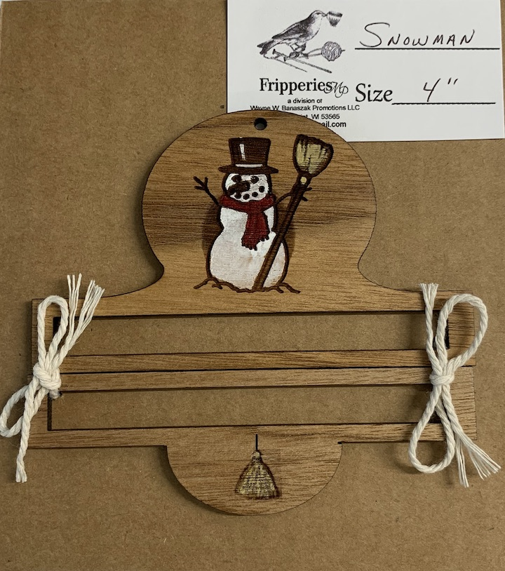 Bell Pull - Snowman - 4 inches