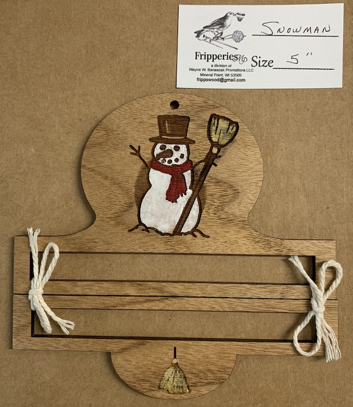 Bell Pull - Snowman - 5 inches